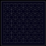 Sashiko sampler Traditional Design Arare-kikko Navy