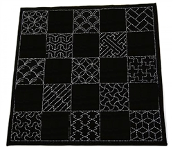 Sashiko Pre-printed Multi Pattern Cloth Traditional Designs Navy