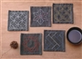 Sashiko Tsumugi Sampler Coasters Purple SC-TC4