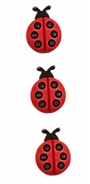 Spring Fling Ladybugs 3pack Buttons Sue Spargo Projects
