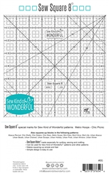 Sew Square 8 Ruler  Sew Kind Wonderful