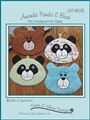 Amanda Panda & Bear Pot Holders Hot Pads Pattern  using insul bright