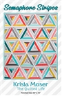 Semaphore Stripes quilt Pattern RULER CGR60DIA