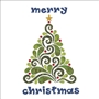 Evergreen Batik Merry Christmas Applique Urban Elementz