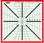 Crosshair Ruler 8 pt by 8.5 inch