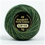 Eleganza 8wt 5-Gram Variegated Perle Cotton Ball 42yd Dark Pine