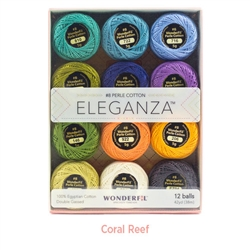Eleganza #8 5g ball Coral Reef Shades 12pack WFEZP-CR