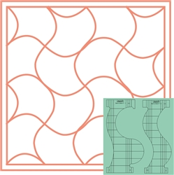 "Back to Back Quilting Templates 2PC 4"" Sets"