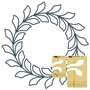 NEW! Circle Wreath Feathered Leaf Set 2piece