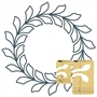 Circle Wreath Feathered Leaf Template Set