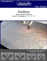 Westalee Feathers Template Ruler set
