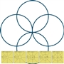 Simple Circles Quilting Templates Set of 5