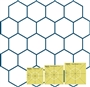 Simple Hexagons Template Set 3. HIGH Shank
