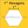 "English Paper Pieces Hexagons 1"" 1200 Bulk"