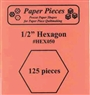 "English Paper Pieces Hexagons 1/2"" paper pieces 125pc"
