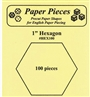"1"" Hexagons 100pc Paper Pieces"