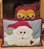 Jingle Bell Santa Pillows Pattern Birds Brain Designs