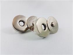"Magnetic Snaps Silver 3/4"" 2 sets"