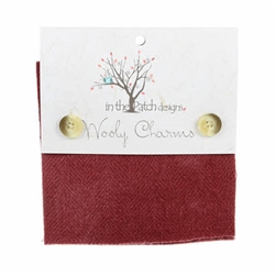 "Wooly Charms Cranberry Reds  5""x5"" WC5701"