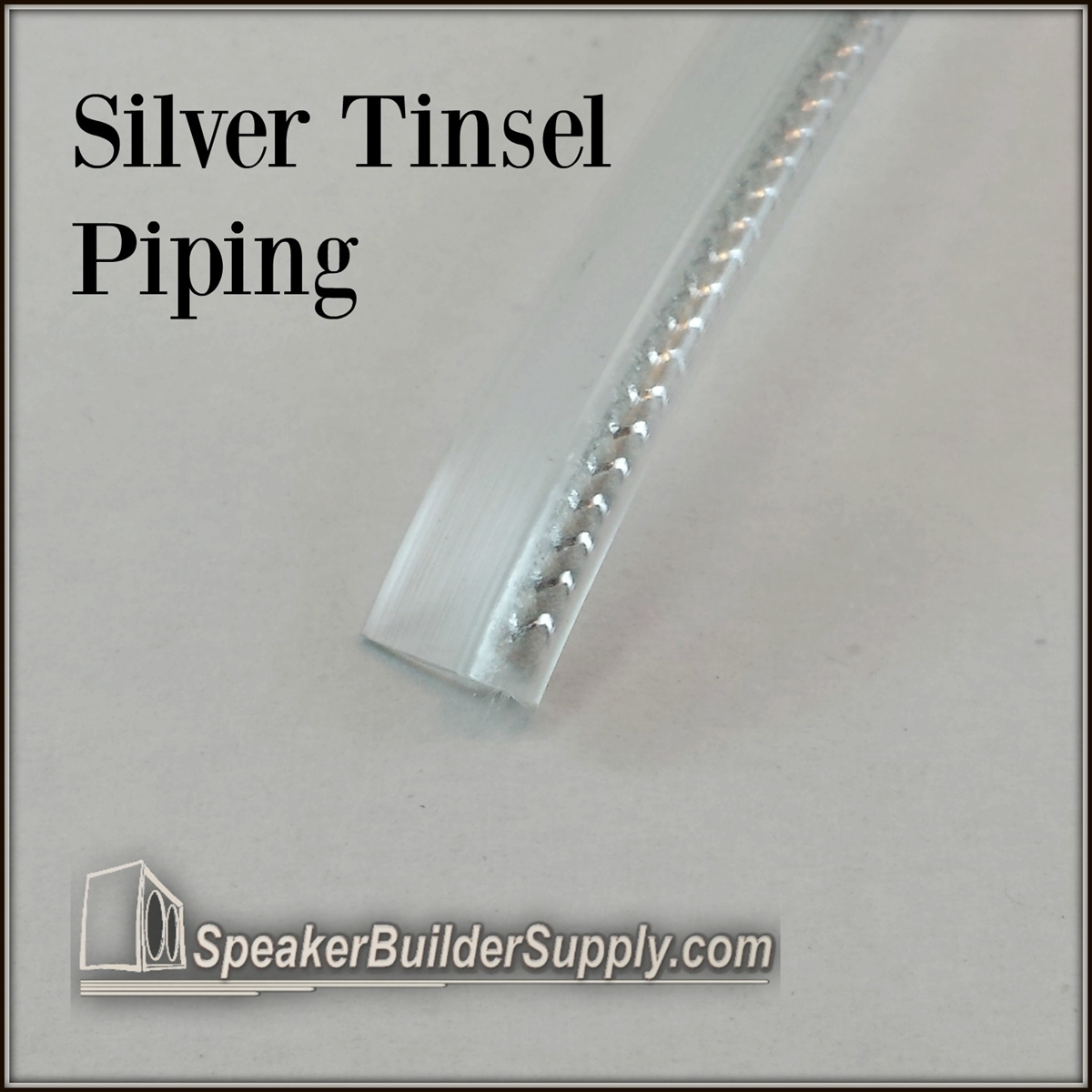 Metallic Tinsel Grill Piping