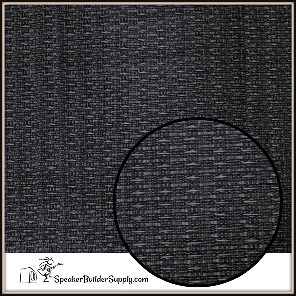 Black grill cloth
