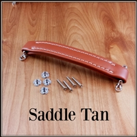 Vintage style leather look handle -<!2>Saddle Tan (Brown)