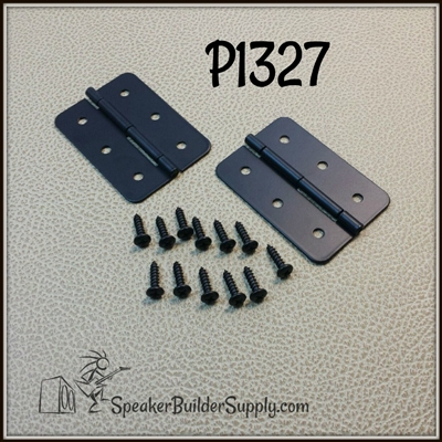 Black utility hinge pair