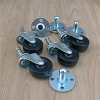 Pop out casters with sockets 4pc set