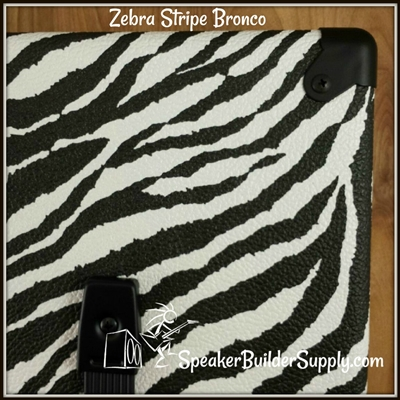 Zebra stripe bronco tolex black and white