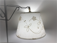 Candlewicking Fabric Shade for Bridge Floor Lamps