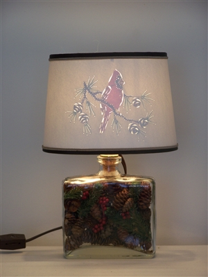 Cardinal & Pine Cone Accent  Light