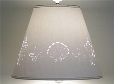 Sea Shell Cut and Pierce Paper Lampshade