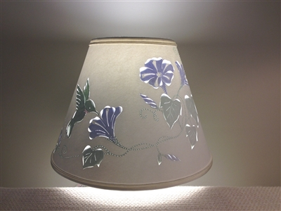 Hummingbird Design Cut and Pierced Lampshade