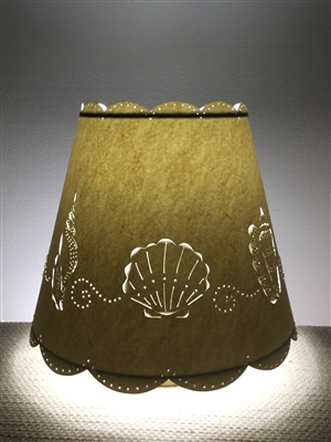 Cut & Pierced Sea Shell Paper Lampshade