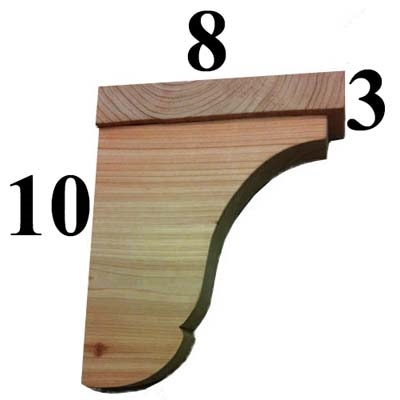 Cedar Shelf Bracket, Style - S01