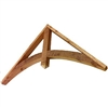 "Decorative Cedar Gable 78"" Simple Arch, Style - GAB2"