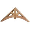 Decorative Cedar Gable 4' Arch With Diagonal Beams, Style - GAB3