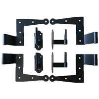 "Set of 2 New York Style Hinges With Pintels for Siding 1 1/4"" Offset"
