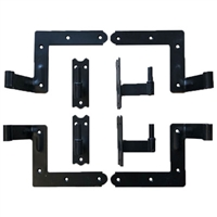 "Set of 2 New York Style Hinges With Pintels for Brick 2 3/8"" Offset"