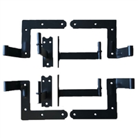 "Set of 2 New York Style Hinges With Pintels for Rock or Stone 4 1/4"" Offset"
