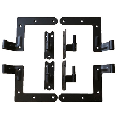 "Set of 4 New York Style Hinges With Pintels for Siding 1 1/4"" Offset"