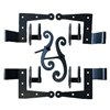 "Stainless Steel Shutter Hinges Siding 1 1/2"" Offset (Set of 4) with Aluminum Shutter Dog Stays for Shutter Pair less than 48"" Tall"