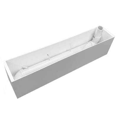 "39.5"" x 7""H x 6""W Light Duty PVC Window Box Insert/Liner"