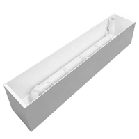 "24.5"" x 8""H x 7.5""W XL Light Duty Large White Window Box Liner Insert (PVC Liner)"