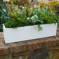 "24""L x 10""H x 10""W Heavy Duty Window Box Liner For Flowers"