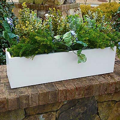 "30""L x 8""H x 8""W Heavy Duty Window Box Liner For Flowers"