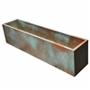 "21.5""L x 8""H x 7.25""W PVC Liner with Metal Effects Tarnished Copper Coating For Flowers"
