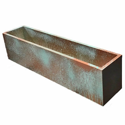 "27.5""L x 8""H x 7.25""W PVC Liner with Metal Effects Tarnished Copper Coating"