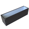 "33.5""L x 8""H x 7.25""W Brown Aluminum Window Box Liner"
