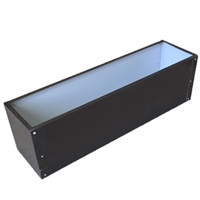 "21.5""L x 8""H x 7.25""W Brown Aluminum Window Box Liner"